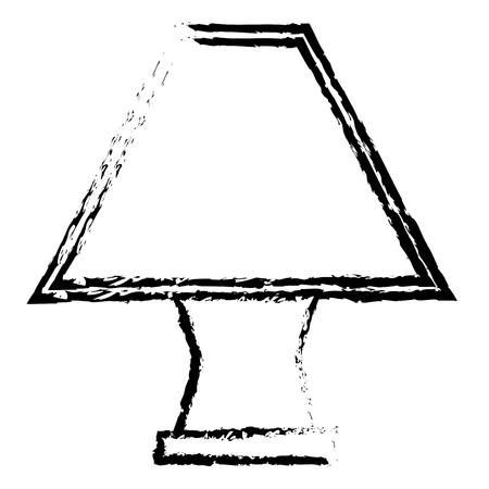 Lampe de table élégante icône vecteur vecteur illustratif Banque d'images - 80344334