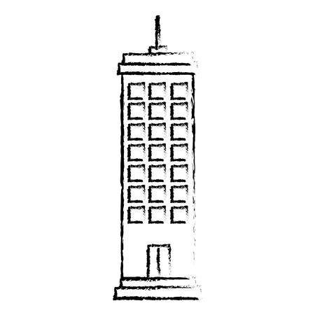 Edifici paesaggio urbano isolato icona illustrazione vettoriale di progettazione Archivio Fotografico - 80344341