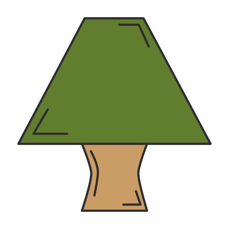 Elegante vector ilustration van het tafellamppictogram Stock Illustratie
