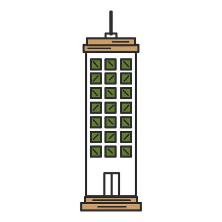Edifici paesaggio urbano isolato icona illustrazione vettoriale di progettazione Archivio Fotografico - 80333004