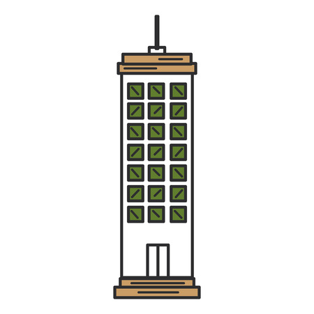 Buildings cityscape isolated icon vector illustration design Illustration