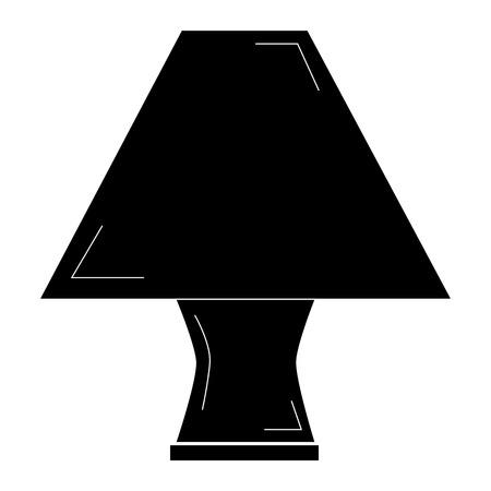 Lampe de table élégante icône vecteur illustration vectorielle Banque d'images - 80333020