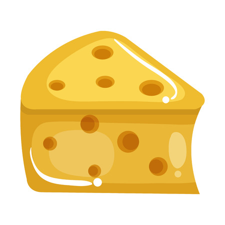 Fresh cheese piece icon vector illustration design Ilustração