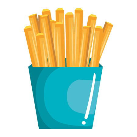 Potatoes fries isolated icon vector illustration design
