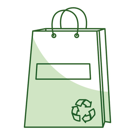 shopping bag with recycle symbol vector illustration design Stock Photo