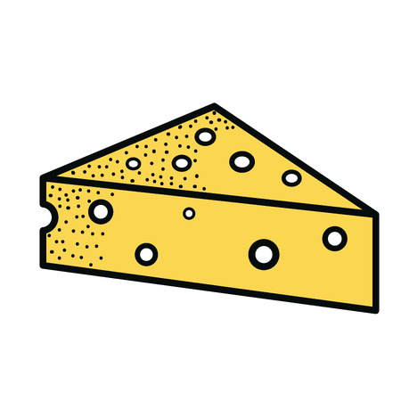 Fresh cheese piece icon vector illustration design Illustration