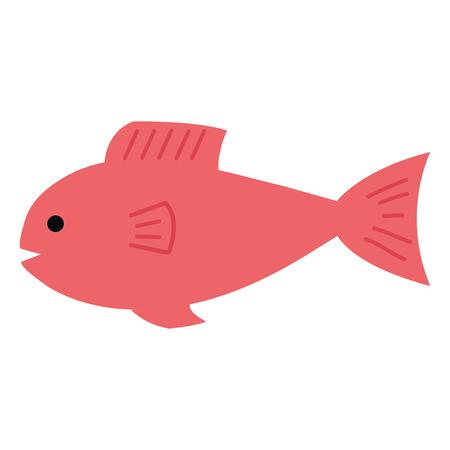 Marisco de los pescados aislados icono de ilustración vectorial de diseño Foto de archivo - 80333363