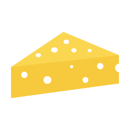 fresh cheese piece icon vector illustration design