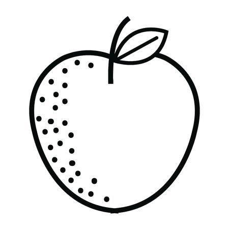apple fresh fruit icon vector illustration design Stock Photo