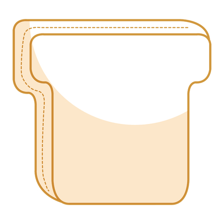 toasted: delicious toast bread isolated icon vector illustration design
