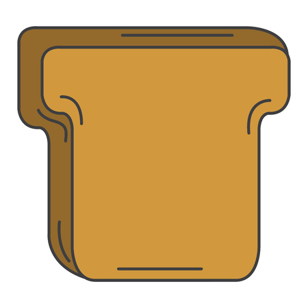 Köstliche Toastbrot isoliert Symbol Vektor-Illustration , Design , Standard-Bild - 80348419