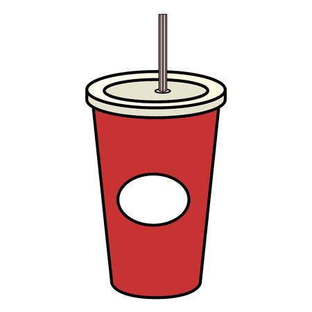 플라스틱 컵 벡터 일러스트 디자인 음료수 음료