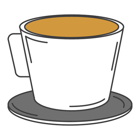 coffee cup isolated icon vector ilustration design Çizim