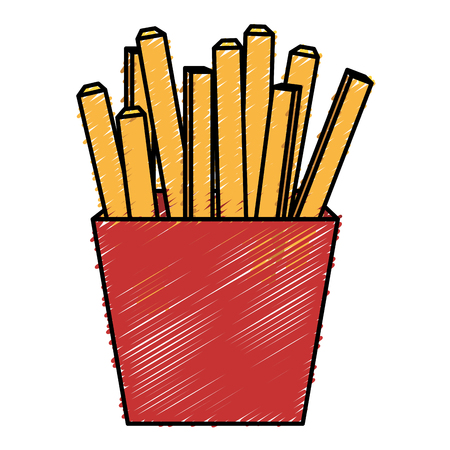 calorie: potatoes fries isolated icon vector ilustration design Stock Photo