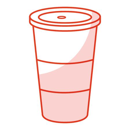 soda drink in plastic cup vector illustration design