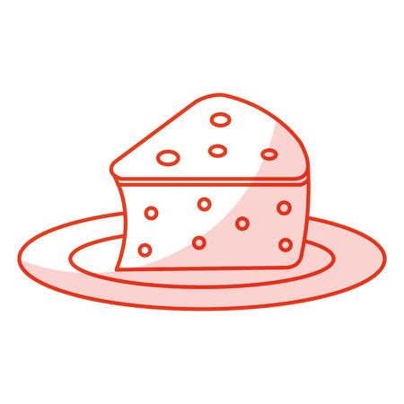 fresh cheese piece icon vector illustration design
