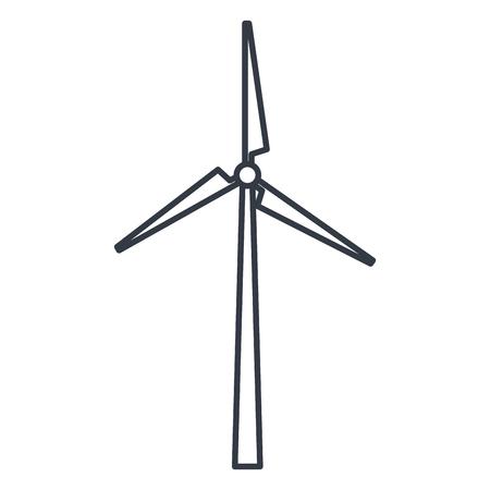 Mulino a vento alternativa icona illustrazione vettoriale illustrazione Archivio Fotografico - 80317901