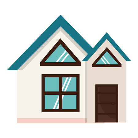 Exterior house isolated icon vector illustration design