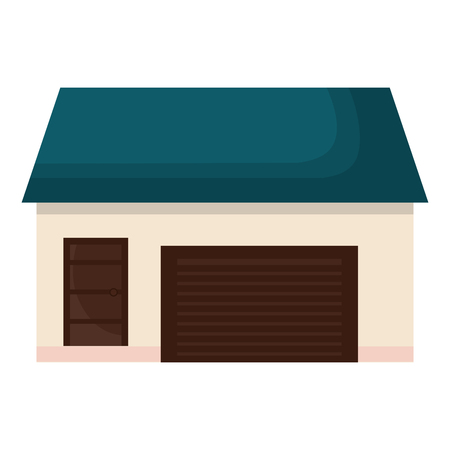 外部の家分離アイコン ベクトル イラスト デザイン