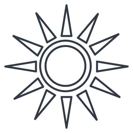 태양 실루엣 절연 아이콘 벡터 일러스트 디자인