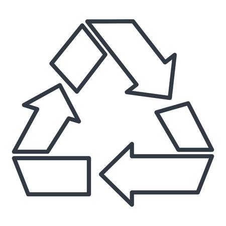recycle arrows symbol icon vector illustration design Stock fotó