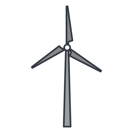 windmill energy alternative icon vector illustration design Illustration