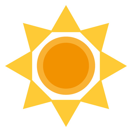 sun silhouette isolated icon vector illustration design