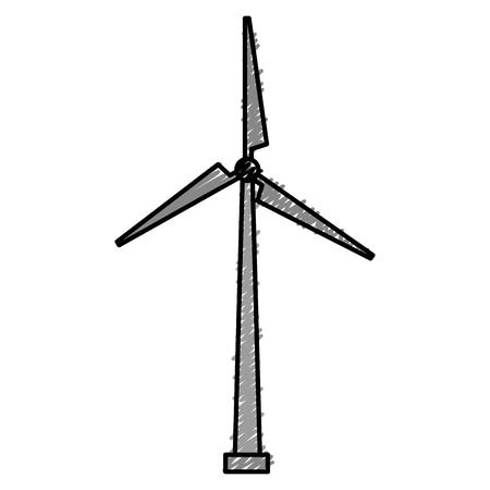 windmill energy alternative icon vector illustration design Illustration