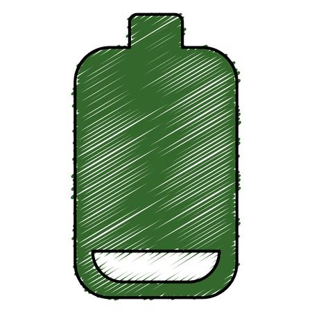 배터리 수준 격리 아이콘 벡터 일러스트 디자인
