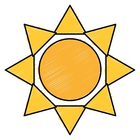 太陽分離シルエット アイコン ベクトル イラスト デザイン