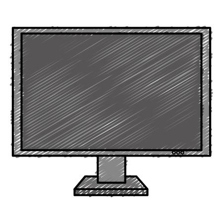 display monitor isolated icon vector illustration design Illustration