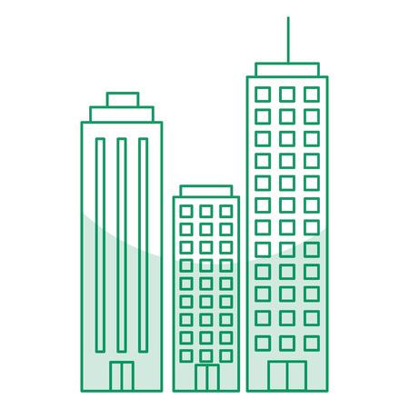 Edifici paesaggio urbano isolato icona illustrazione vettoriale di progettazione Archivio Fotografico - 80407175