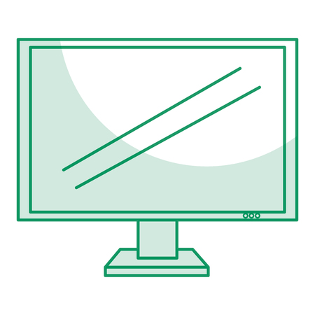 display monitor isolated icon vector illustration design Banco de Imagens - 80370744