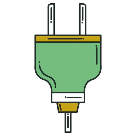 Vector de illustratieontwerp van het energiestop geïsoleerd pictogram