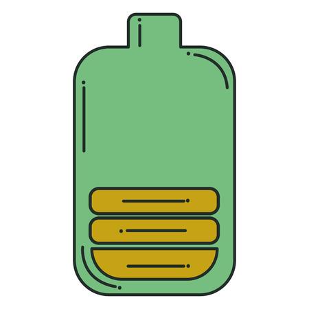 batterij niveau geïsoleerd pictogram vector illustratie ontwerp