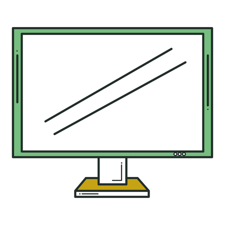 display monitor isolated icon vector illustration design Reklamní fotografie - 80329282