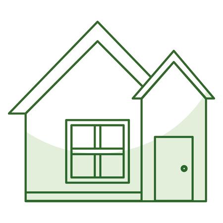 exterior house isolated icon vector illustration design Ilustração