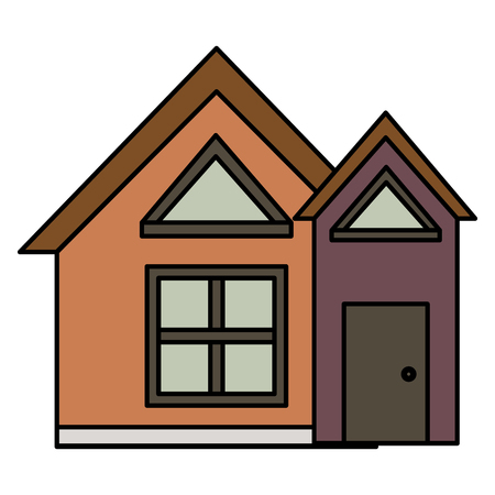 Exterior house isolated icon vector illustration design. Illustration
