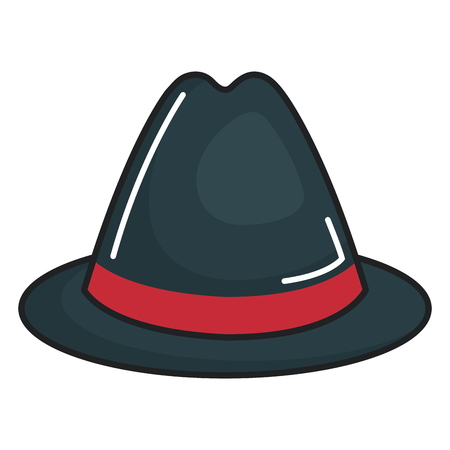 english culture: gentleman hat isolated icon vector illustration design