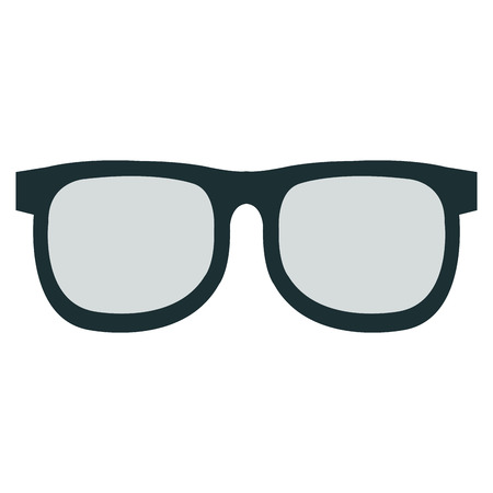 elegant eye glasses icon vector illustration design