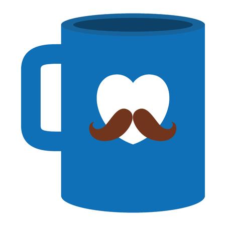 Fathers day gift mug vector illustration design