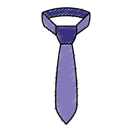 エレガントなネクタイは、アイコン ベクトル イラスト デザインを分離しました。