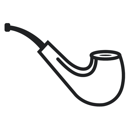 habit: Wooden pipe isolated icon vector illustration design.