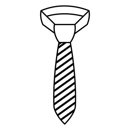 Elegant tie isolated icon vector illustration design. Иллюстрация