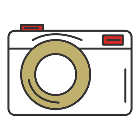 photographing: photographic camera isolated icon vector illustration design