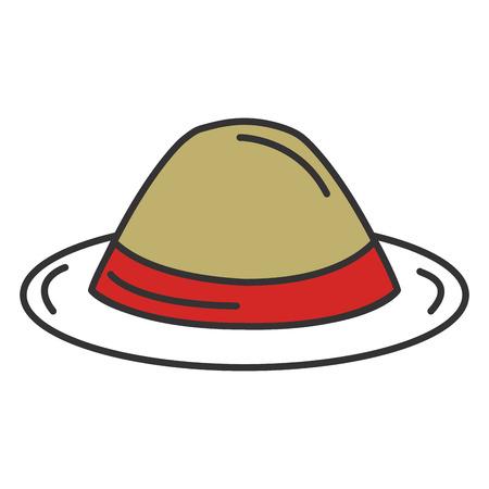 gentleman hat isolated icon vector illustration design