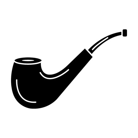 wooden pipe isolated icon vector illustration design Ilustracja