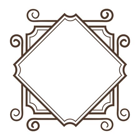 Elegant Victoriaans vector de illustratieontwerp van het stijlkader Stock Illustratie