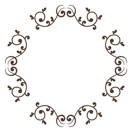 Eleganter viktorianischen Stil Rahmen Vektor-Illustration Design Standard-Bild - 80338559