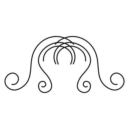 Elegantes viktorianisches Designvektor-Illustrationsdesign Standard-Bild - 80338687
